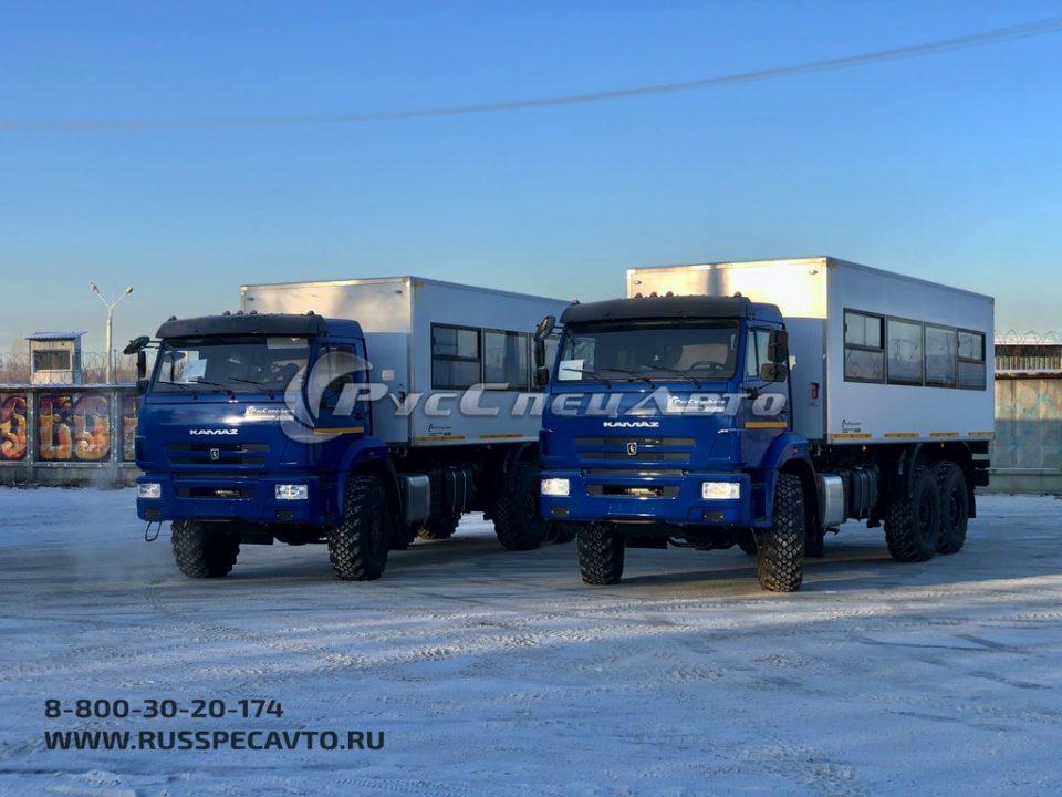 Вахтовый КамАЗ 43118 вместимостью 28 мест
