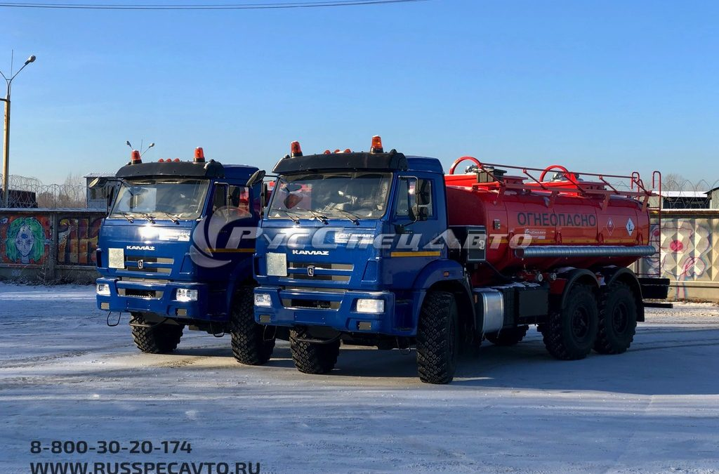Автотопливозаправщик двухсекционный объёмом 12 м3 на базе шасси КамАЗ 43118