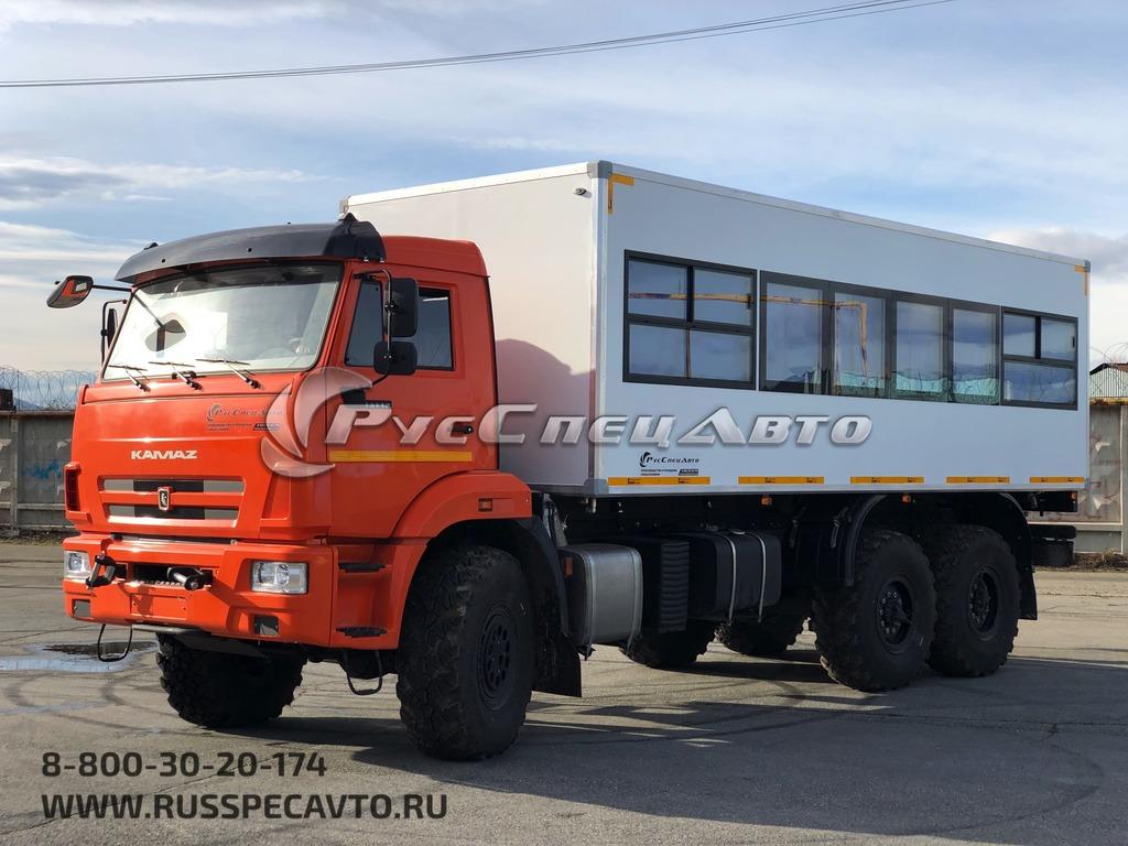Пассажирская вахтовка на базе КамАЗ 43118 вместимостью 22 места