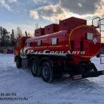 Топливозаправщик 15 куб.м. на базе КамАЗ 65115 (УВТ сбоку)