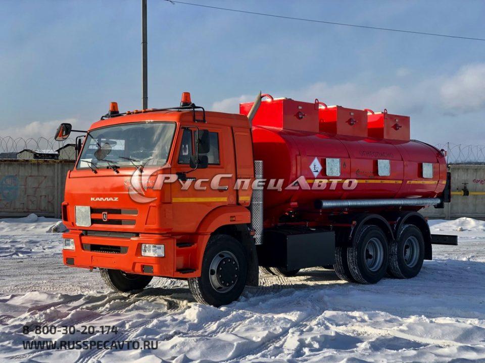 Топливозаправщик 15 куб.м. на базе КамАЗ 65115 (УВТ сбоку, 3 отсека)